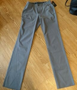 NEW UNDER ARMOUR Men's Golf Pants HeatGear Loose Gray Unhemmed