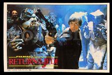 Star Wars Return Of The Jedi Vintage Original Odeon Cinema Promo 1983 Postcard