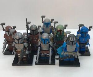 NEW Lot of 8pcs Star Wars Mandalorian minifigures - Lego Compatible Star Wars