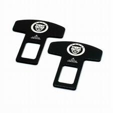 2x Auto Car Decoration Seat Safety Belt Plug Clip Buckle Logo For Jaguar XE XF