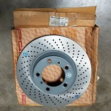 Porsche 911 NOS Front Right Vented Drilled Steel Brake Rotor OEM - NEW OLD STOCK