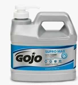 GoJo Supro Max Heavy Duty Hand Cleaner with Gentle Scrubbers, 64 fl oz