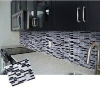 DIY Mosaic 3D Self Adhesive Wall Tile Sticker Vinyl Bathroom Kitchen Home Decor