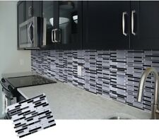 3D Mosaic Self Adhesive Wall Tile Sticker Vinyl Bathroom Kitchen Home Decor W4