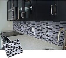 Mosaic Self Adhesive Wall Tile Sticker Vinyl Bathroom Kitchen Home Decor DIY W4