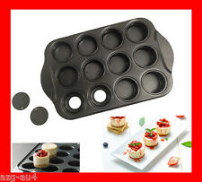 Heavy Duty 12Cup Non-stick Mini Cheesecake Cake Pan Loose Base Cheese cake Tin