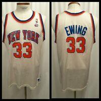 Vintage PATRICK EWING #33 New York NY Knicks White Champion Jersey Size 48