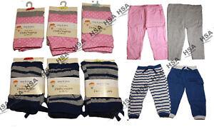 2 PK Girls Kids Children Cotton Pink Grey Leggings 6-9 months Christmas Gift