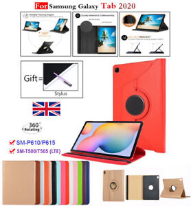 360 Rotating Case Cover Leather Stand for Samsung Galaxy Tab A7 T500 / S6 Lite