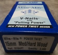 ITW Amp Genuine Mitre-Mite V-Nails with Pulling Power 15mm Med/Hard Wood 1015HPT