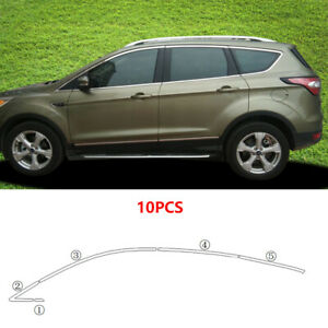 For Ford Escape Kuga 2013-2019 Stainless Upper Window Sill Trim Molding Cover