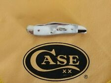 CASE XX PEANUT - MOTHER PEARL HANDLES- SCISSORS - 8220SS SC TANG - MADE 2001