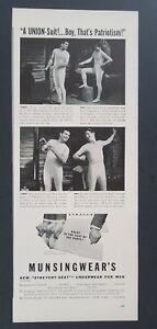 1941 Men In Underwear Photo Munsingwear Gay Interest Vintage Print Ad