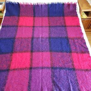 Cape Mohair Blanket Super Soft Throw Purple Blue Fuchsia Fringe South Africa