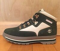 TIMBERLAND EURO HIKER BOOTS GREEN WHITE VINTAGE GS KIDS YOUTH SZ 4-7 Y  96908