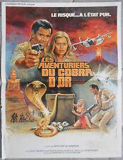 Affiche LES AVENTURIERS DU COBRA D'OR Antonio Margheriti DAVID WARBECK 40x60cm