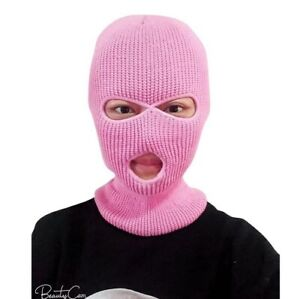 Winter 3 Hole Ski Mask Cold proof Warm Thick Hat Knitted Face Visor Keeping Warm