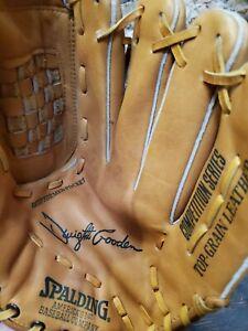 Vintage Spalding Baseball Glove Mitt Autograph Model Dwight Gooden