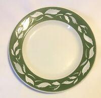 Jackson China Restaurant Ware Dinner Plate Green Leaves 9 3/4 Falls Creek PA
