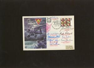 1980 RAF Escaping Society Armee Secrete Leuven cover signed G.Glaister DFC..