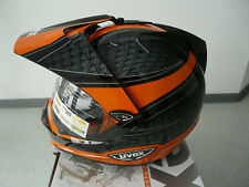 Casco de moto integral CASCO CROSS Uvex ENDURO 3 en 1 Negro Naranja CARBONO S