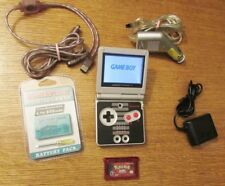 Nintendo Game Boy Advance SP Classic NES Limited Edition Black & Silver Handheld