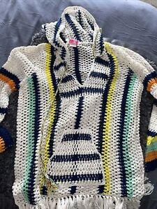 Anna Kosturova Baja Crochet Hoodie S Cotton NWOT $495 Top