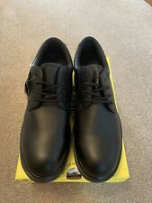 Dr Martens Black Leather Steel Toe Cap Airwair Safety Shoes UK 10 NEW