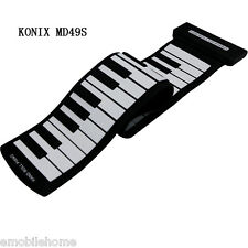 KONIX MD49S 49 Key Flexible Silicon Roll Up Piano Preliminary Training Tool Gift