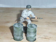 1/32 SCALE SOLID RESIN WINTER OIL DRUMS HAND PAINTED FOR SCENIC DIORAMAS 2 PACK