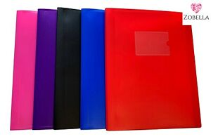A4 & A5 Display Books, Presentation Folder File - Various Bright Colours