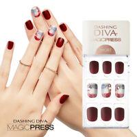 [DASHING DIVA] Magic Press Gel Nail Art Manicure 30 pcs VINTAGE BURGUNDY (SHORT)