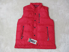 NEW Orvis Essex Down Vest Adult Medium Fly Fisherman Fishing Red Navy Blue Mens