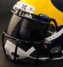 *CUSTOM* MICHIGAN WOLVERINES NCAA OAKLEY Football Helmet EYE SHIELD / VISOR