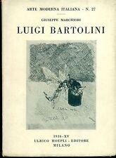 BARTOLINI - Luigi Bartolini. Significativa dedica firmata. Hoepli, 1936