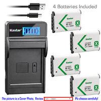 Kastar Battery LCD Charger for Sony NP-BX1 BC-CSXB & Sony Cyber-shot DSC-HX400V