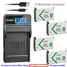 Kastar Battery LCD Charger for Sony NP-BX1 BC-CSXB & Sony Cyber-shot DSC-HX80