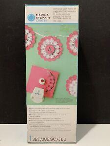 """Martha Stewart Circle Punch Starter Set 7 Sizes Up to 12"""" Paper Scrapbooking"""