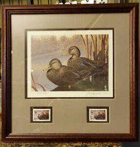 1991 Black Ducks Ohio Wetlands Habitat - Signed print and stamp - #354 of 590