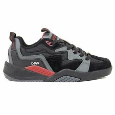 DVS Devious Trainers Shoes Charcoal Black Red Nubuck