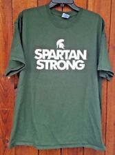 "Michigan State Spartans logo ""Spartan Strong"" 2 sided T-shirt Sz. XL"