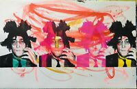 MR CLEVER ART JOHN LENNON BASQUIAT ABSTRACT PAINTING Beatles street art pop art