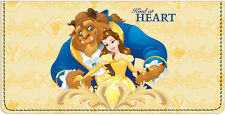 Beauty and the Beast Leather Checkbook Cover