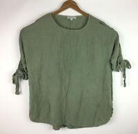Umgee Women's Size XL Open Cold Shoulder Tunic Top Green Shirt Oversized.