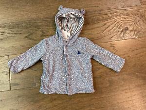 Boys Blue Speckled Jacket - Gap - Size 3-6 Months