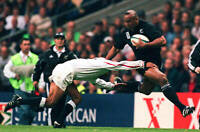 New Zealand All Blacks rugby union great Jonah Lomu,  No 34 OLD LARGE PHOTO