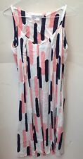 & Other Stories Dress Pink, Black & White Spaghetti Strap Dress Size 40