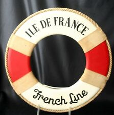"Vintage FRENCH LINE SS ""ILE DE FRANCE"" Miniature Life Ring"