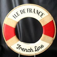 "Vintage FRENCH LINE SS ""ILE DE FRANCE"" Miniature Life Ring"