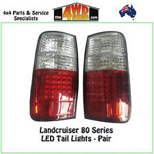 TAIL LIGHTS fit TOYOTA LANDCRUISER 80 SERIES - PAIR LED PERFORMANCE CRYSTAL NEW